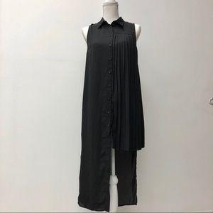 Asymmetrical black dress by Sparkle & Fade